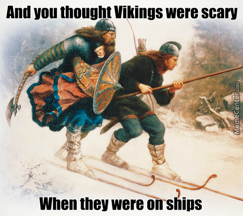 Nothing More Manly Than Fighting On Skis