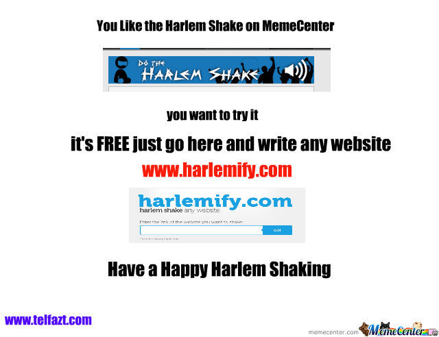 Now You Can Do The Harlem Shake !!