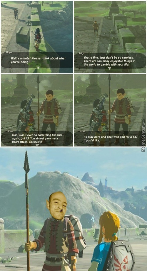 Npc Character Stopping Link From Doing Ironic Suicidal Memes