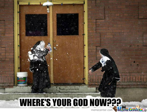 Nuns In The Snow...