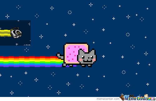 Nyan Cat And Space Core