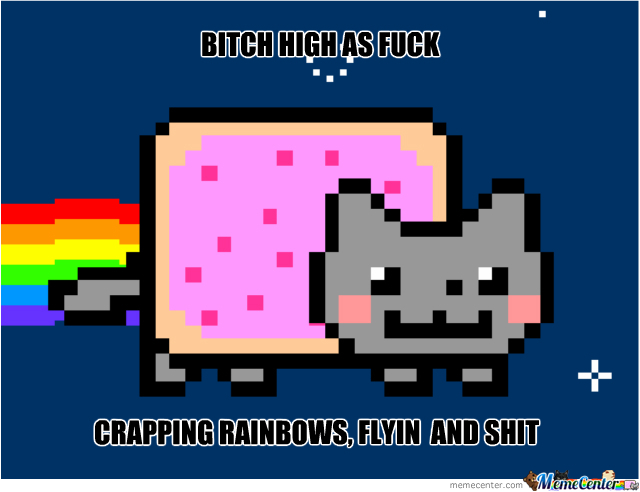 Nyan Cat High As Fuck