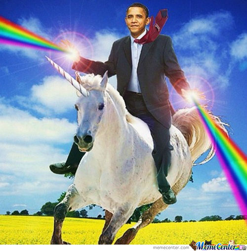 Obama Unicorn Rider: The Desolation Of Romney