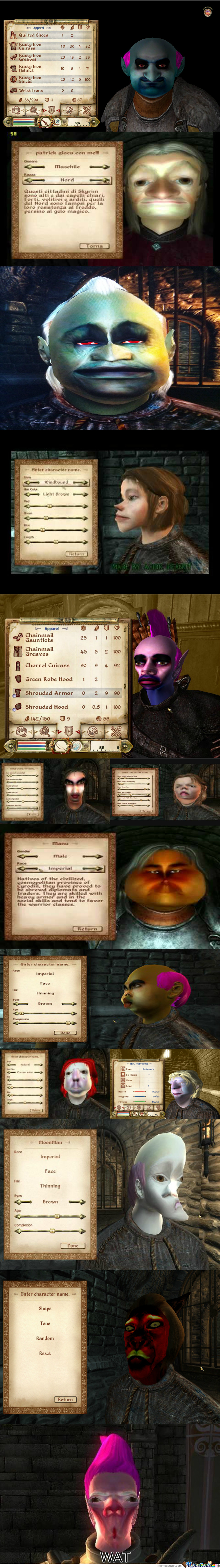Oblivion Character Creation Gone Wrong