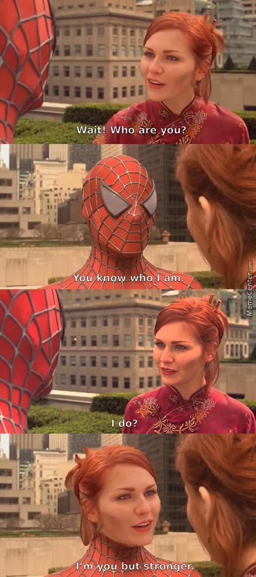 Obviously She'S From An Alternate Universe Where The Radioactive Spider Bit Mary Jane Instead.