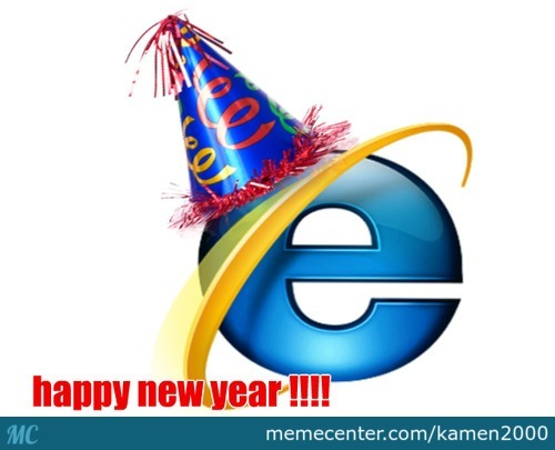 Oh, Internet Explorer