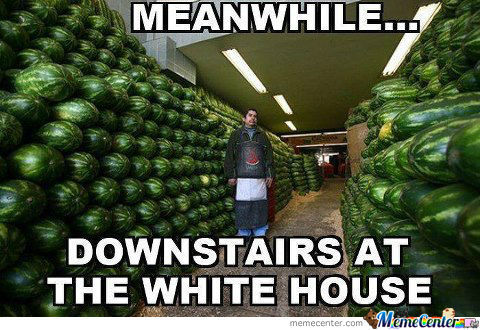 Oh Obama. You Can't Eat All Those Watermelons.