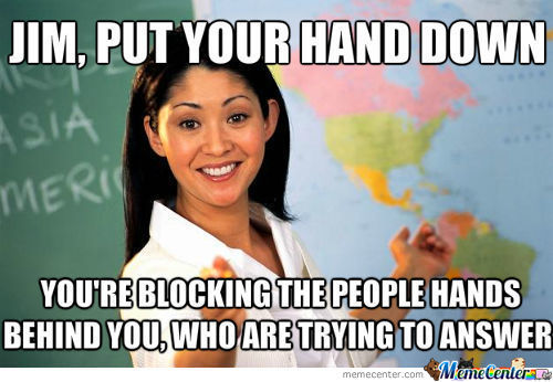 Oh You've Been Holding It Up All This Time? Better Pick The Person Behind You.
