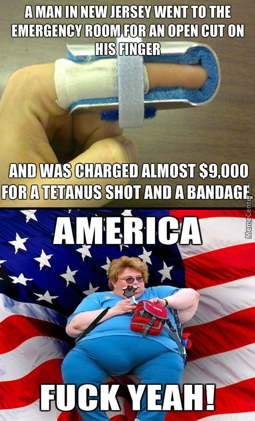 Oh You Want To Live? That Will Be 10,000 Dollars! Need A Band Aid? That Will Cost You A Bit More