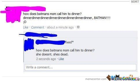 Ohh Dear Batman