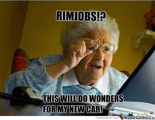 Old Grandma Discovering Rim Jobs