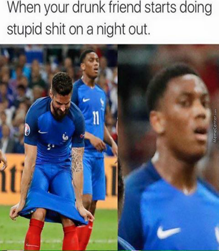 Olivier Giroud And Anthony Martial