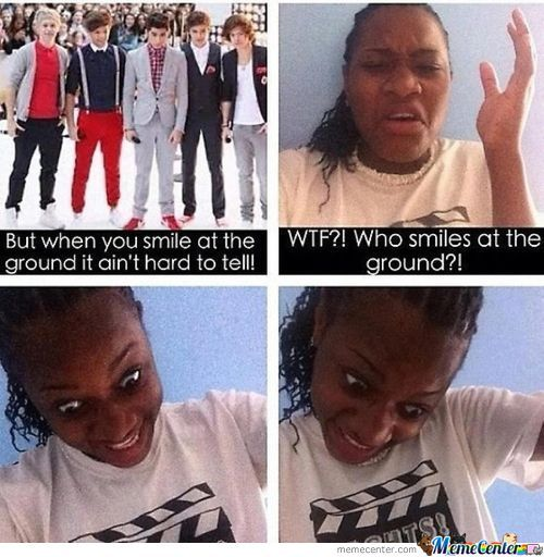 One Direction Smiles At The Ground
