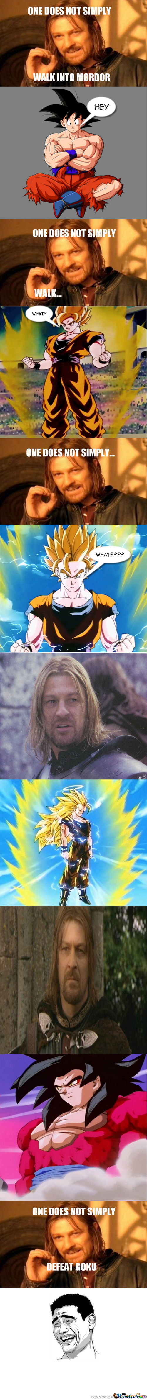 One Does Not Simply Mess With Goku