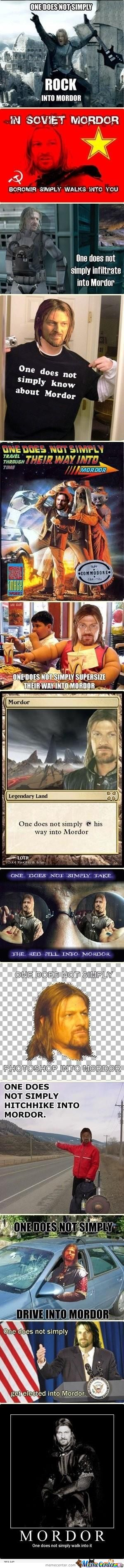 One Does Not Simply Walk Into Morder X13!