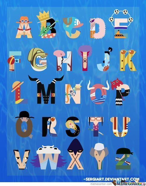 One Piece Alphabet