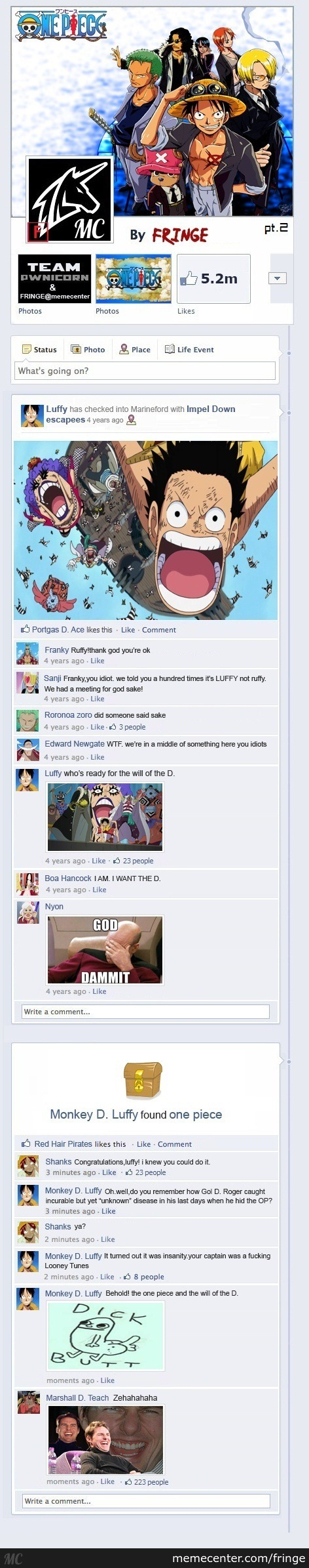 One Piece On Facebook (Part 2)