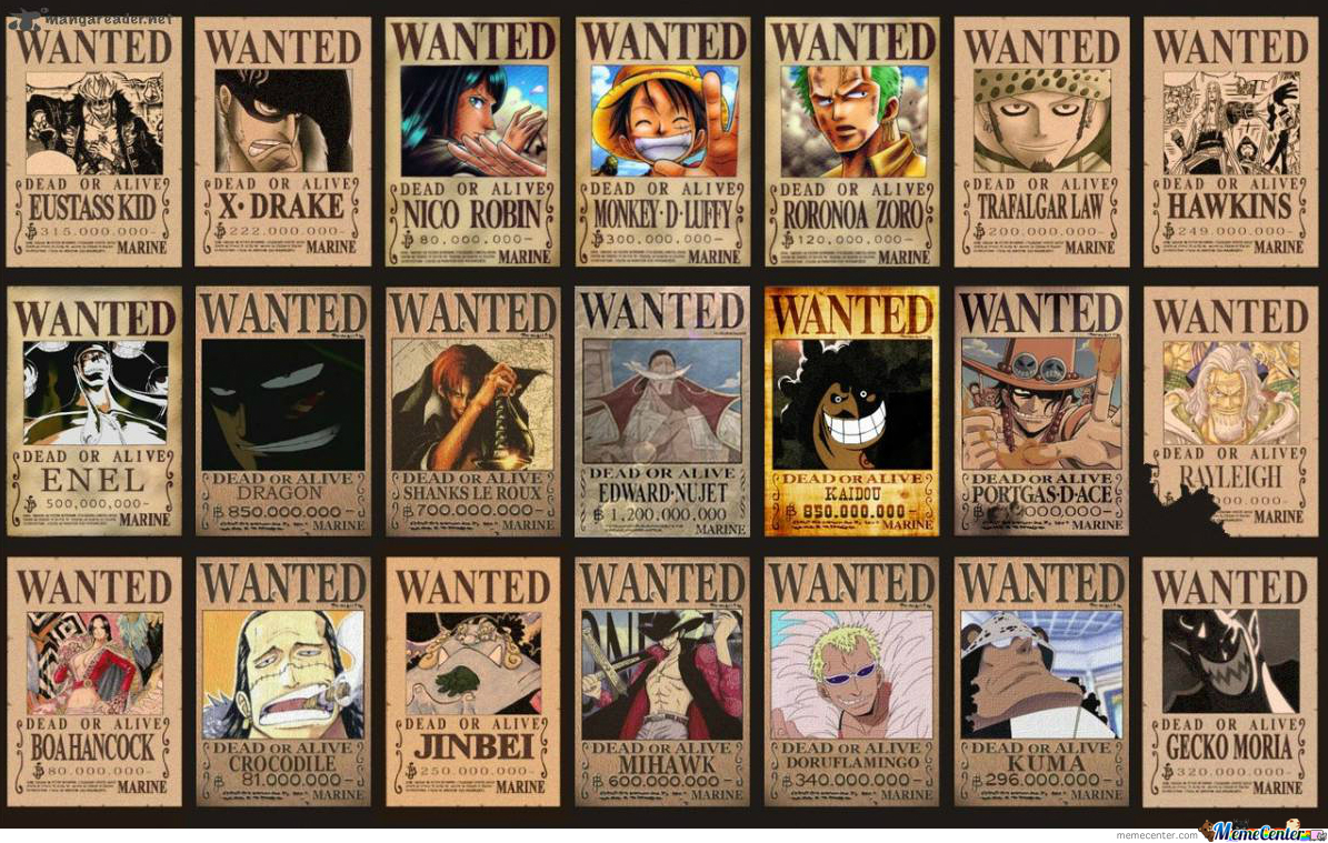 One Piece Wanted Posters Image From Manga Panda by ...