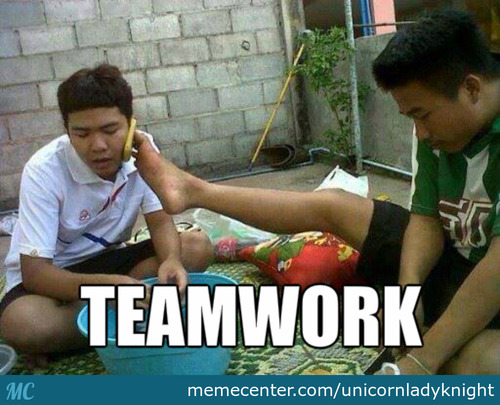 Only In Cambodia- Teamwork