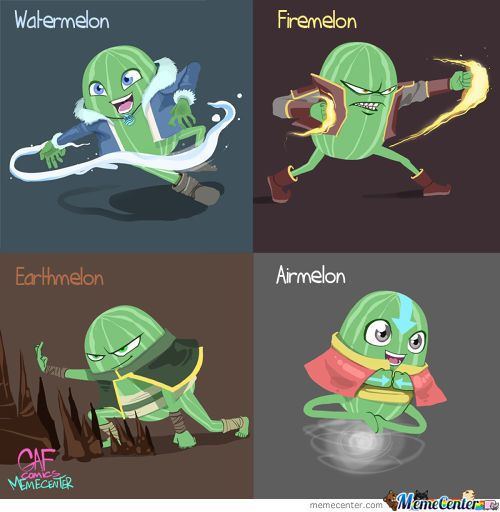 Only The Avatarmelon Could Master All 4 Elements