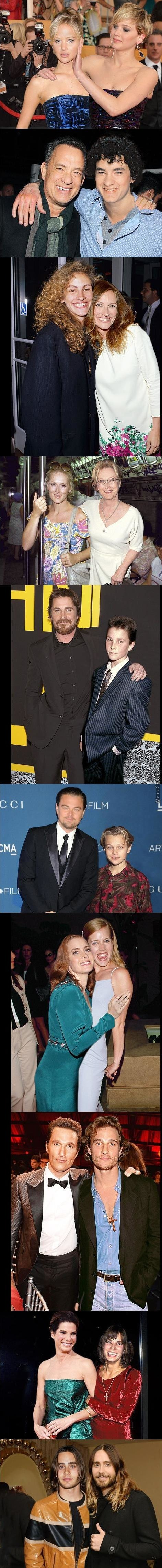 Oscar Nominees With Younger Versions Of Themselves