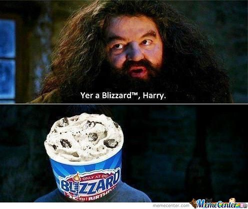 You're a Blizzard , Harry