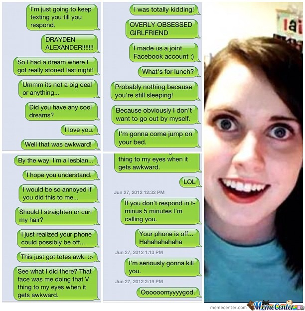 Overly Attached Texting