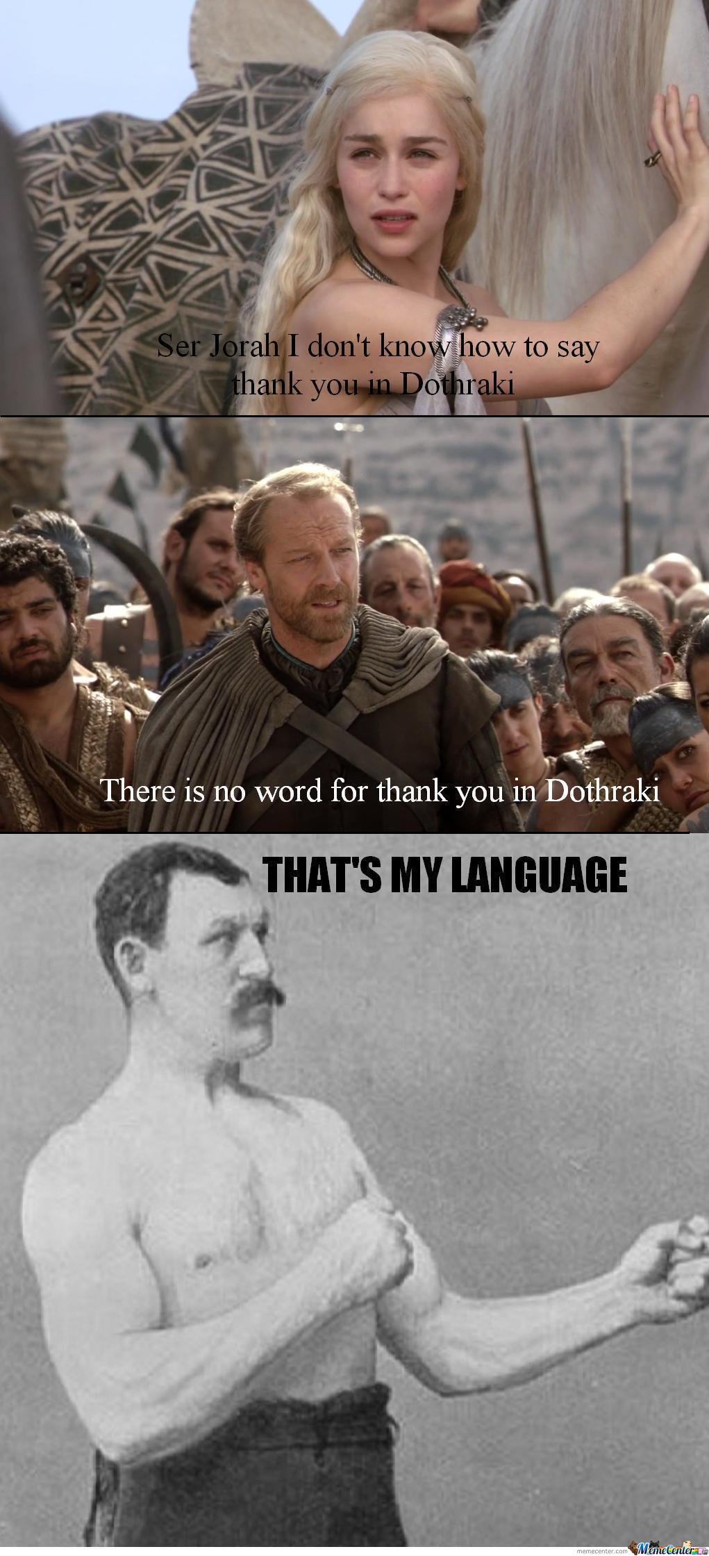 Overly Manly Language