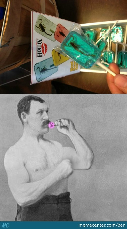 Overly Manly Lollipop