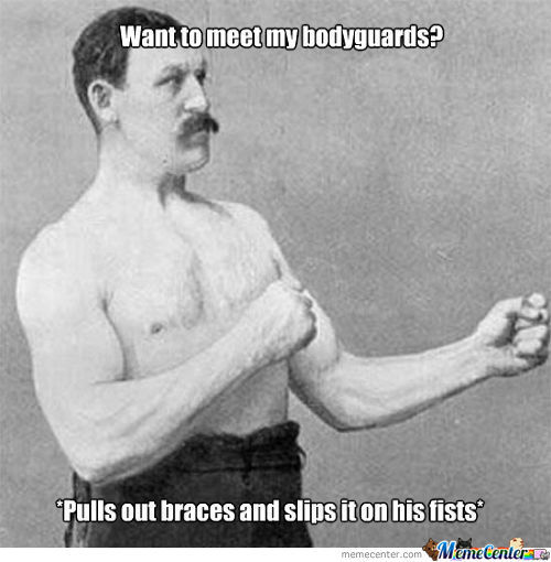 Overly Manly Man's Hands