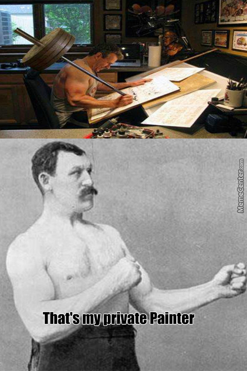 Overly Manly  Painter
