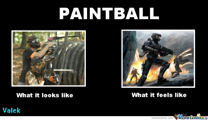 Paintball Whit Master Chief