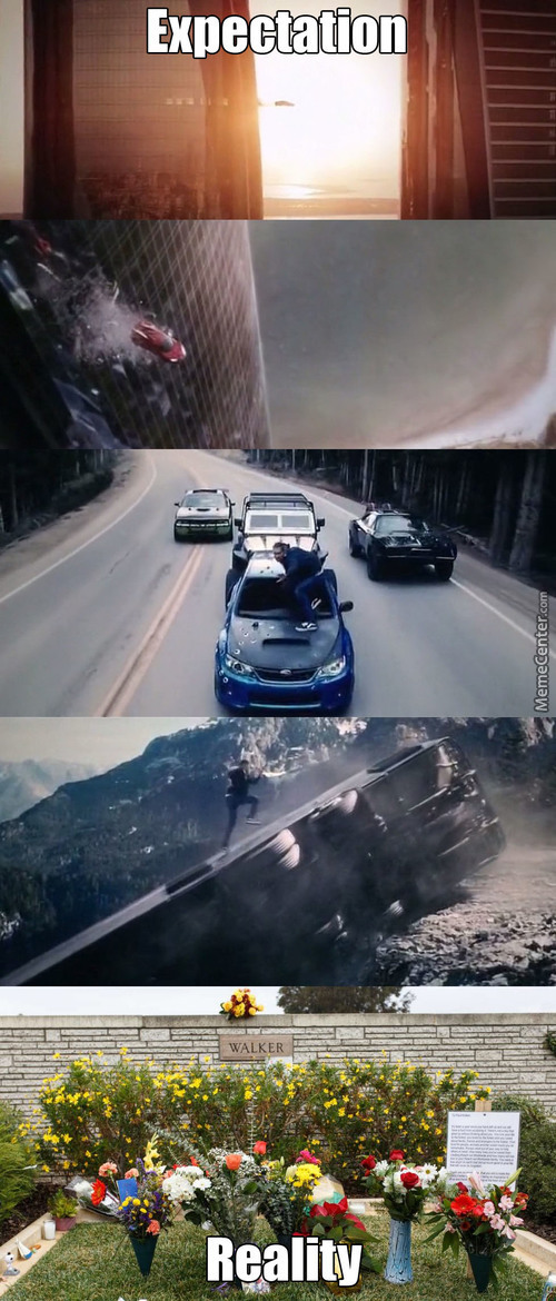Paul Walker In Furious 7 And Reality