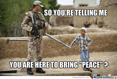 Peace ? Yea Make Sense