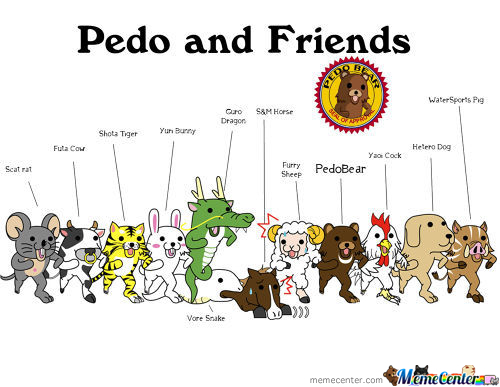 Pedobear And Friends