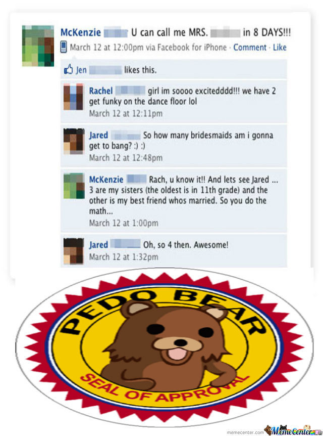 Pedobear Doesn't Mind Sloppy Seconds