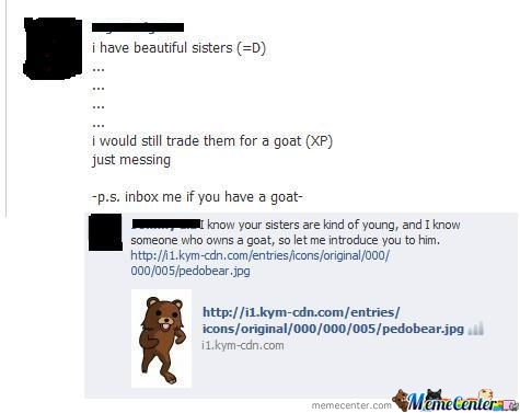 Pedobear Has Friends