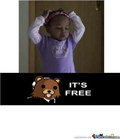 Pedobear Loves Free Hugs