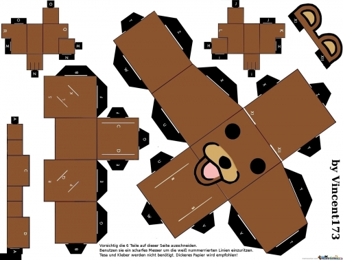 pedobear paper craft