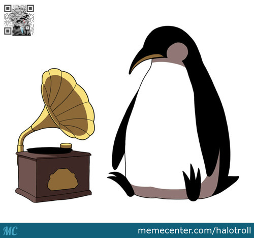Penguin Listen To Music . . .