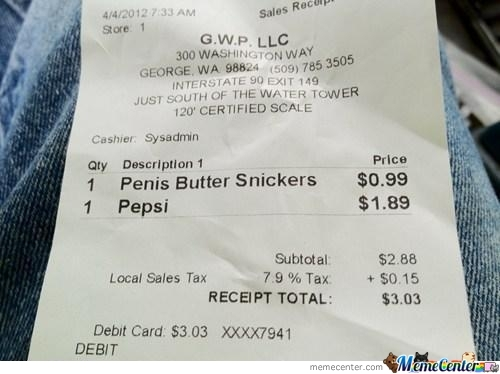 Penis Butter Snickers