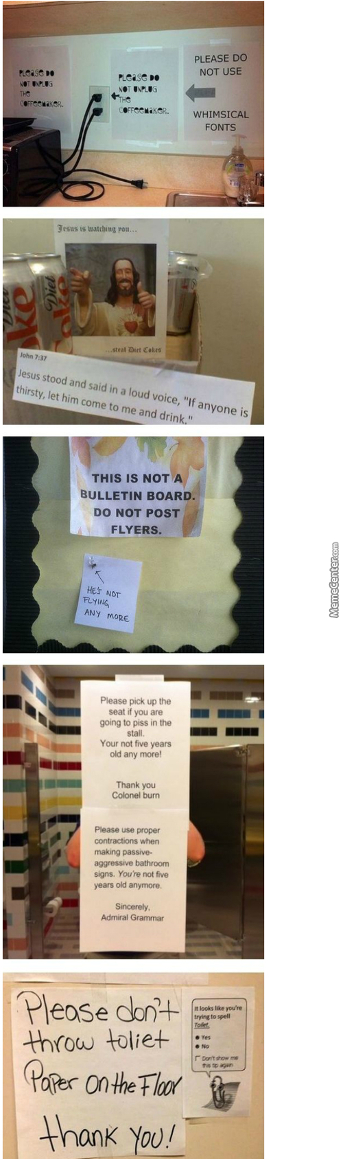 People Writting Notes Think They Are So Smart, Well This Is A Free Country!