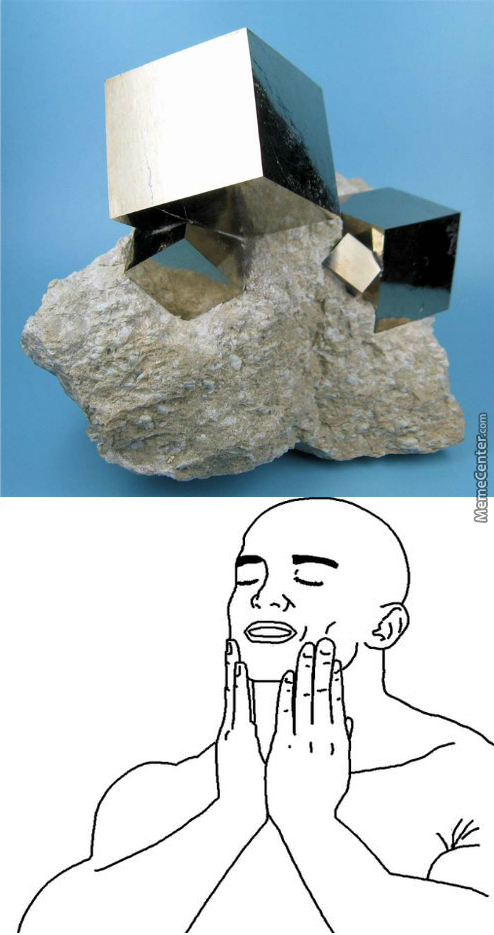 Perfect Pyrite Cubes Formed Naturally In Nature