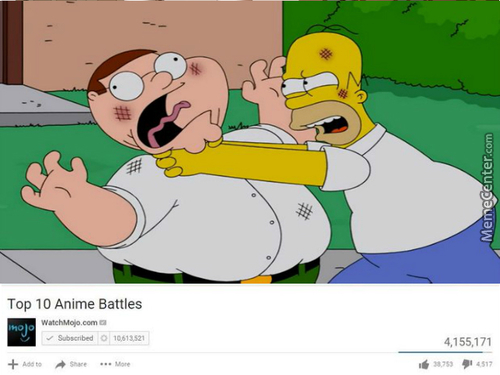 Peter Griffin V Homer Simpsons: Dawn Of Fat Guys