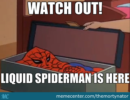 Peter Parker Was Bitten By A Liquid Spider
