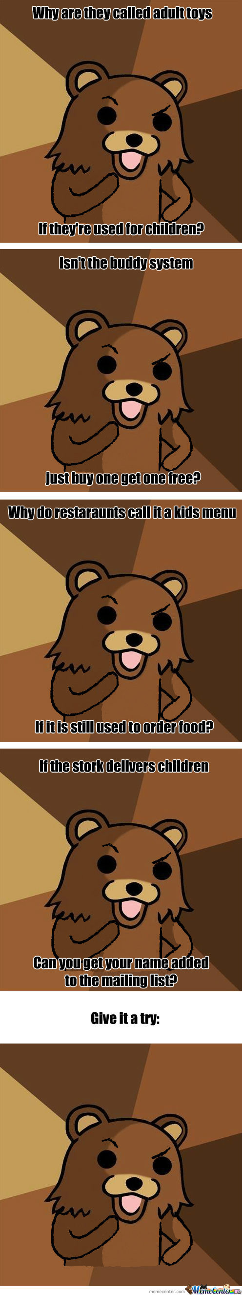 Philosobear - The Quizzical Side Of Pedobear.