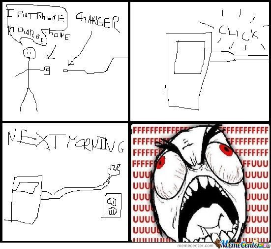 Phone Charging Rage This Morning
