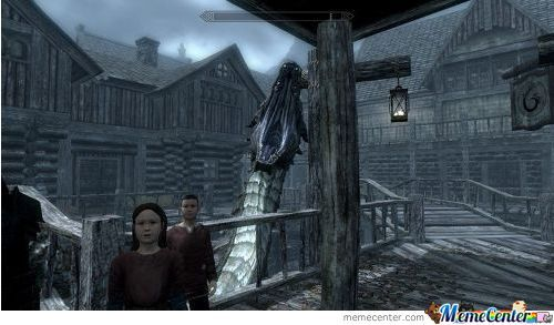 Photobomb Level: Skyrim