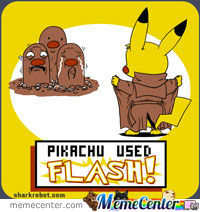 Pikachu Used Flash ;)