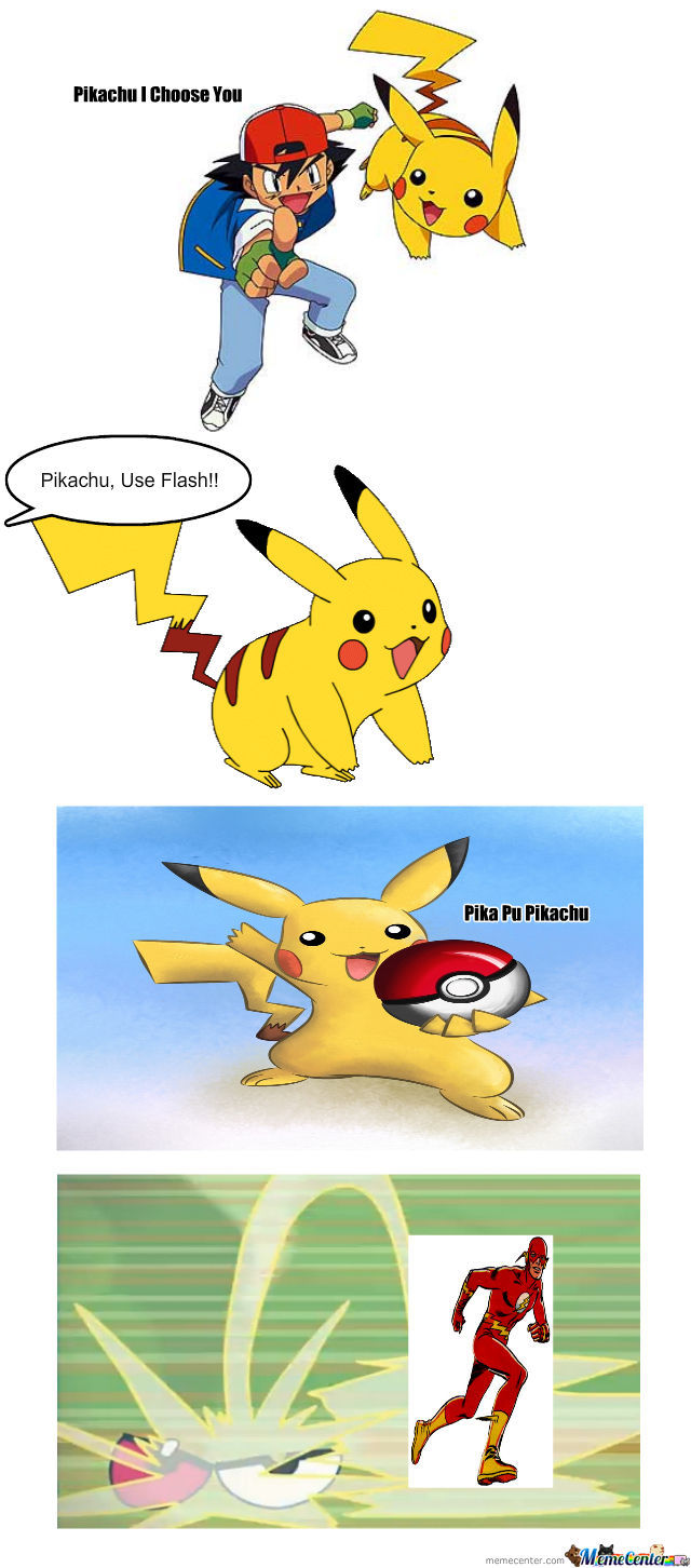 Pikachu Using Flash